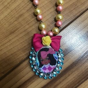 Fun Quirky Crystal Necklace Created By LA Artist
